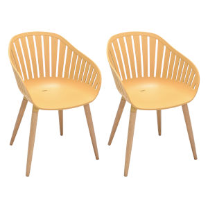 Nassau Honey Outdoor Dining Chair, Set of Two