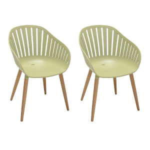 Nassau Sage Green Outdoor Dining Chair, Set of Two