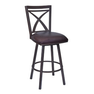 Nova Brown and Auburn Bay 26-Inch Counter Stool