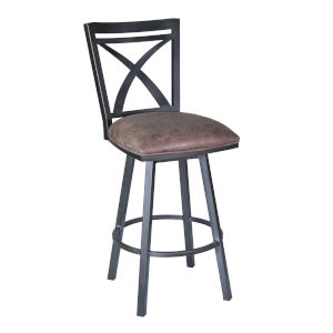 Hillsdale Furniture Vetrina Gray Backless Non Swivel Bar