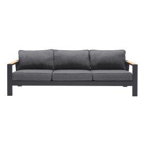 Palau Dark Gray Teak Outdoor Sofa
