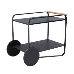 Portals Black Outdoor Accent Cart