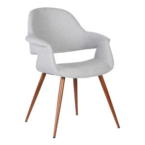 Phoebe Gray with Walnut Dining Chair