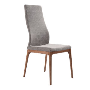 Parker Gray with Walnut Dining Chair, Set of Two