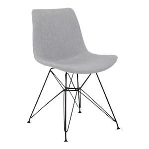 Palmetto Gray with Black Dining Chair