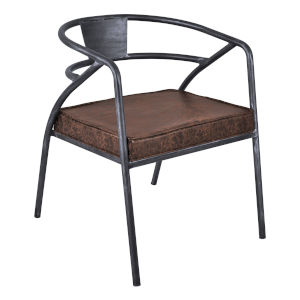Paisley Brown with Industrial Gray Dining Chair
