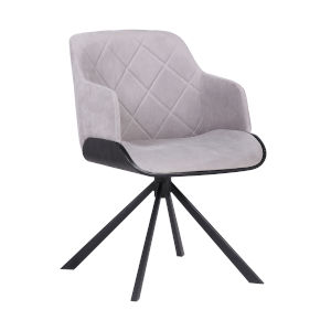 Puma Gray with Black Powder Coat Dining Chair