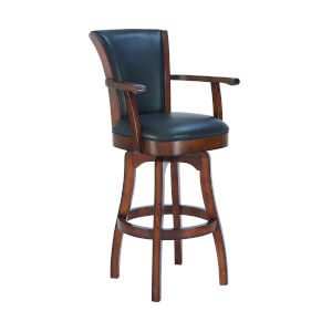 Raleigh Rustic Cordovan 30-Inch Bar Stool with Arms