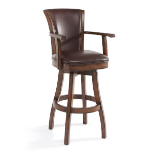 Raleigh Arm Chestnut 26-Inch Counter Stool