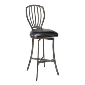 Sandy Mineral and Black 26-Inch Counter Stool