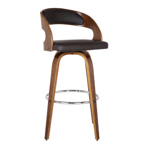 Shelly Walnut 30-Inch Bar Stool