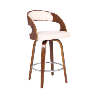 Shelly Walnut and Cream 26-Inch Counter Stool
