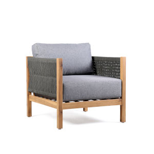 Sienna Eucalyptus Gray Outdoor Lounge Chair