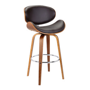 Solvang Brown and Walnut 30-Inch Bar Stool