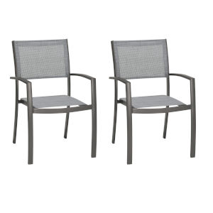 Solana Cosmos Outdoor Dining Chair, Set of Two