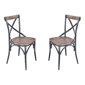 Sloan Industrial Gray Dining Chair, Set of Two