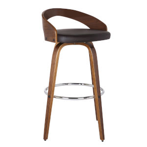 Sonia Walnut 26-Inch Counter Stool