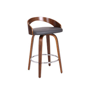 Sonia Gray and Walnut 26-Inch Counter Stool