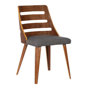 Storm Charcoal with Walnut Dining Chair
