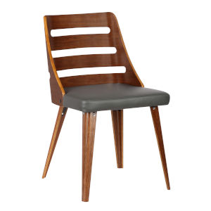 Storm Gray with Walnut Dining Chair