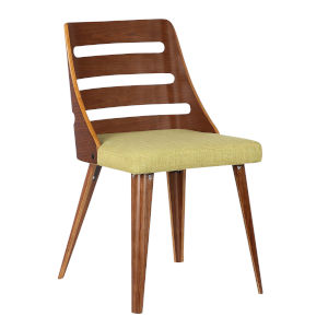 Storm Green with Walnut Dining Chair