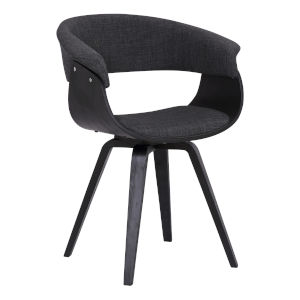 Summer Charcoal with Black Dining Chair