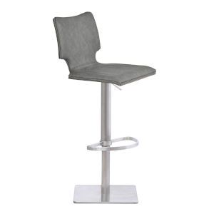 Sydney Vintage Gray and Stainless Steel 31-Inch Bar Stool