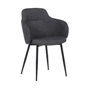 Tammy Charcoal with Black Powder Coat Dining Chair