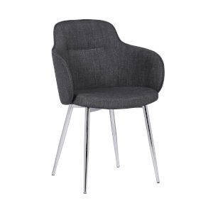 Tammy Charcoal with Brushed Chrome Dining Chair