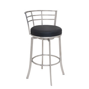 Viper Black and Stainless Steel 26-Inch Counter Stool