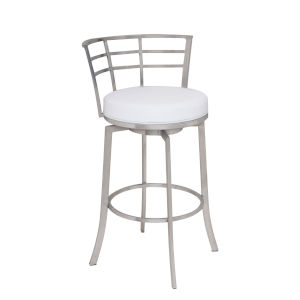 Viper White and Stainless Steel 26-Inch Counter Stool