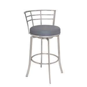 Viper Gray and Stainless Steel 30-Inch Bar Stool