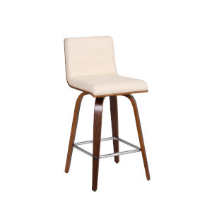 Vienna Walnut and Cream 26-Inch Counter Stool