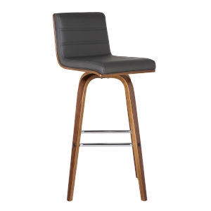 Vienna Walnut and Gray 26-Inch Counter Stool