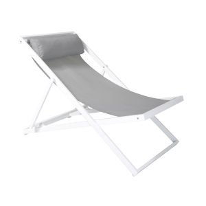 Wave White Outdoor Patio Lounge Chair