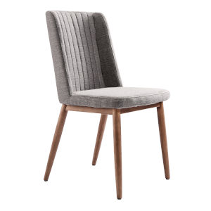 Wade Gray with Walnut Dining Chair, Set of Two