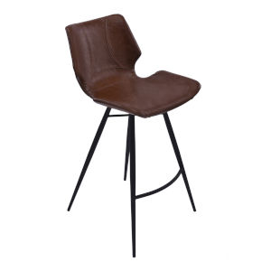 Zurich Vintage Coffee and Matte Black 26-Inch Counter Stool