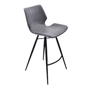 Zuma Gray and Matte Black 31-Inch Bar Stool