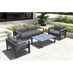 Aelani Gray Four-Piece Outdoor Furniture Set