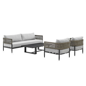 Alegria Black Four-Piece Outdoor Four-Piece Conversation Set