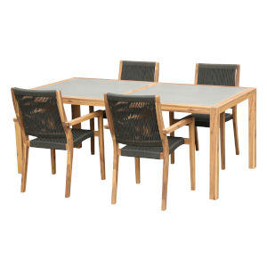 Sienna Teak Five-Piece Outdoor Dining Set