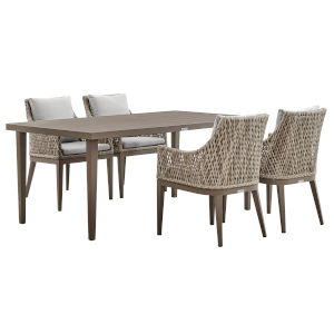 Grenada Gray Five-Piece Outdoor Dining Set