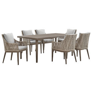 Grenada Gray Seven-Piece Outdoor Dining Set