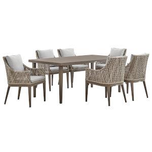 Grenada Gray Seven-Piece Outdoor Dining Set