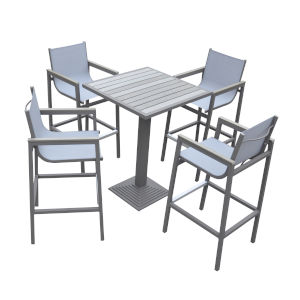 Marina Gray Outdoor Patio Pub Set