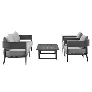 Menorca Dark Gray Four-Piece Outdoor Four-Piece Conversation Set