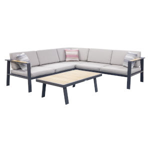 Nofi Charcoal Outdoor Patio Sectional Set