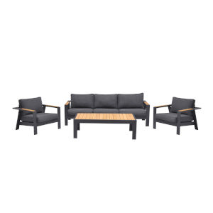 Palau Tesk Dark Gray Four-Piece Outdoor Sofa Set