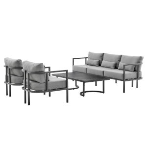 Valentina Dark Gray Four-Piece Outdoor Four-Piece Conversation Set