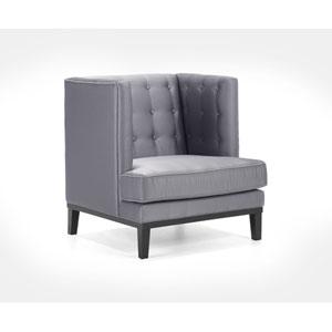 Noho Silver Satin Arm Chair